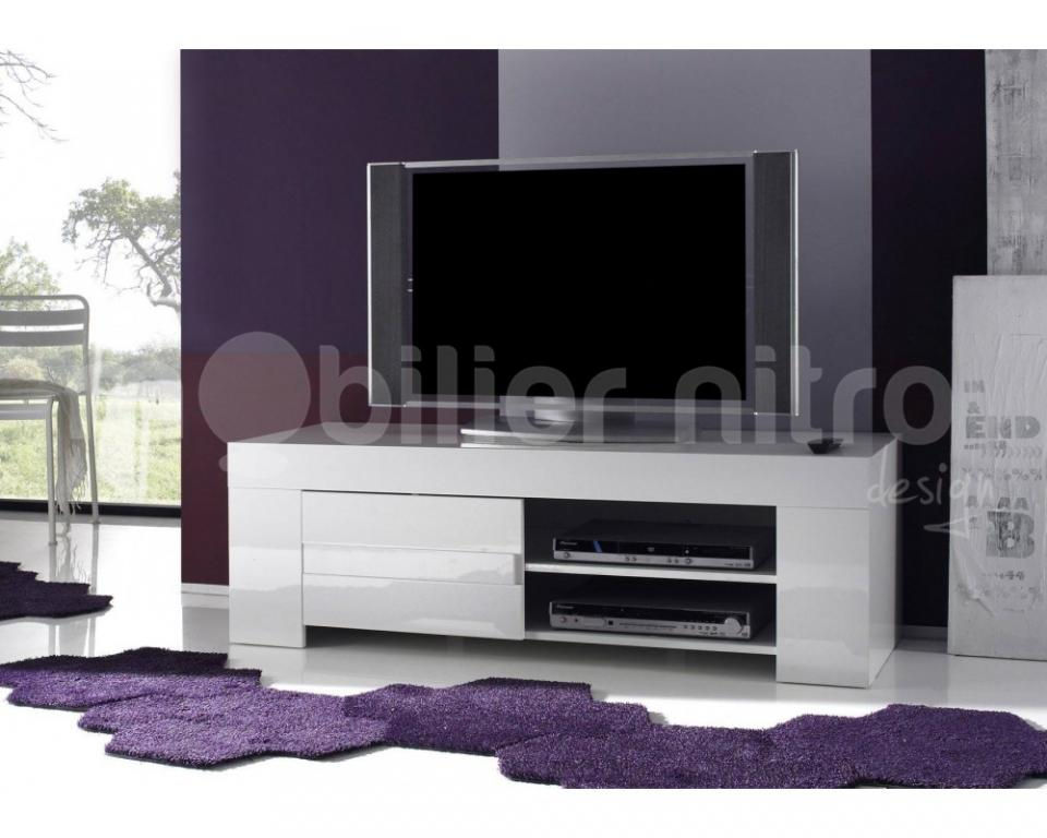 meuble laqu blanc fly affordable timeo meuble tvhifi. Black Bedroom Furniture Sets. Home Design Ideas