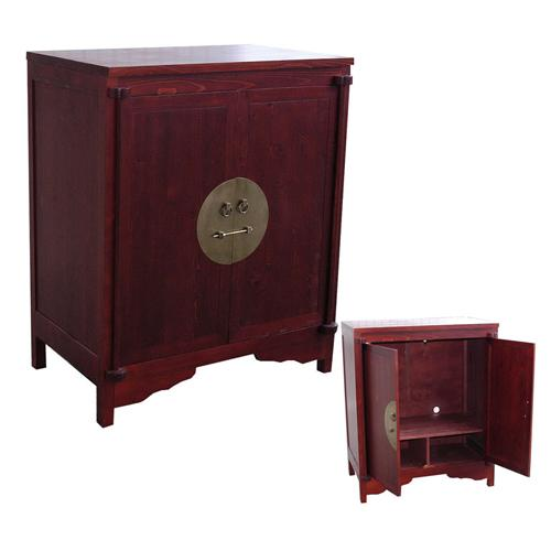 bmpc meuble cache tv chne 4 portes 1 abattant vitr 5622. Black Bedroom Furniture Sets. Home Design Ideas