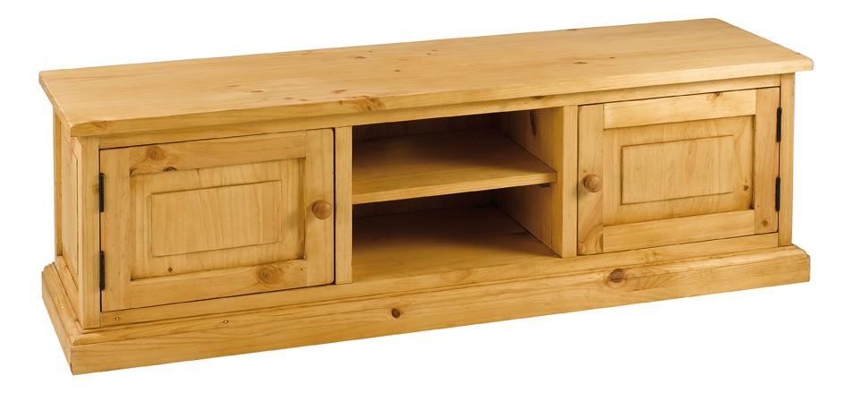 couleurs cmeuble tv en pin 2 portes 4 tiroirs 1 niche. Black Bedroom Furniture Sets. Home Design Ideas
