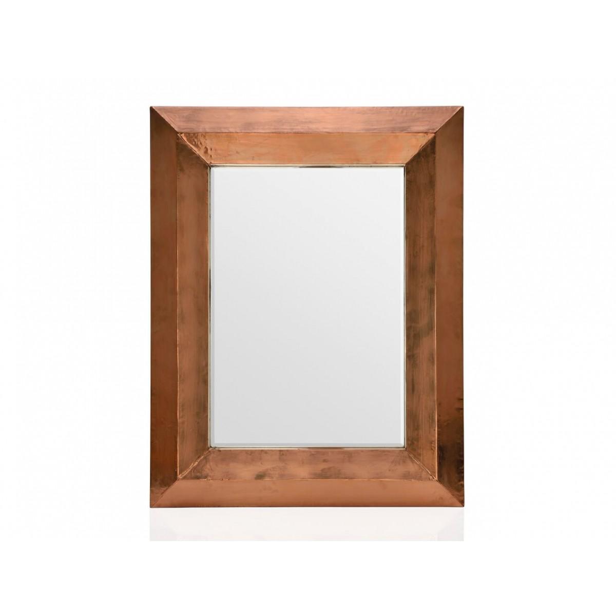 Inwood miroir mural rectangulaire en cuivre 70 x 90 cm for Miroir murale rectangulaire