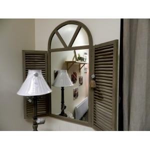 Jardin miroir arcade et portes persiennes en manguier d for Jardin d ulysse miroir