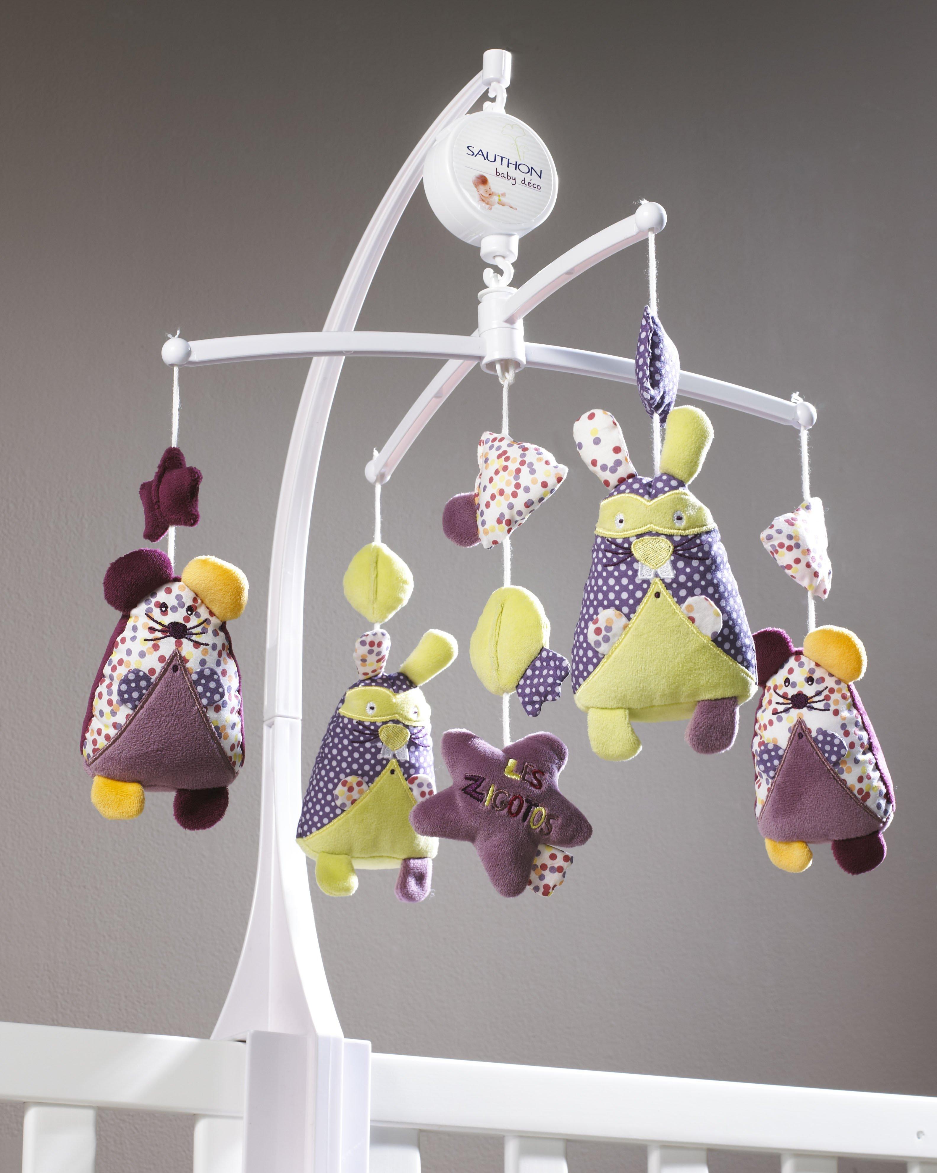 sauthon mobile musical chic for kids cat gorie lampe de chevet. Black Bedroom Furniture Sets. Home Design Ideas