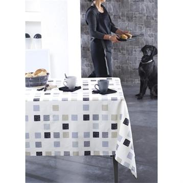 nappe unie ronde jacquard 100 polyester abelia. Black Bedroom Furniture Sets. Home Design Ideas