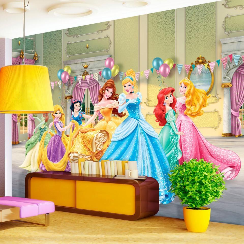 disney papier peint xxl anniversaire princesse 360 x 270 cm catgorie poster dco maison. Black Bedroom Furniture Sets. Home Design Ideas