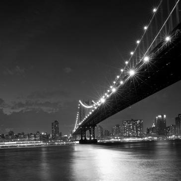 Brio toile noir et blanc imprim e du pont de brooklyn 5 - Toile pont de brooklyn ...
