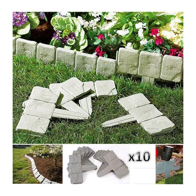 probache bordurette de jardin imitation pierre x10 pi ces cat gorie outillage pour le toit. Black Bedroom Furniture Sets. Home Design Ideas