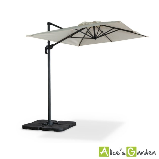 alice c s garden parasol d port biscarosse 2x3m ecru. Black Bedroom Furniture Sets. Home Design Ideas