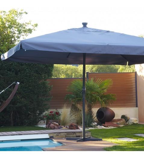 Dcb soldes parasol en aluminium rond 5m coloris rouge for Mobilier de jardin soldes