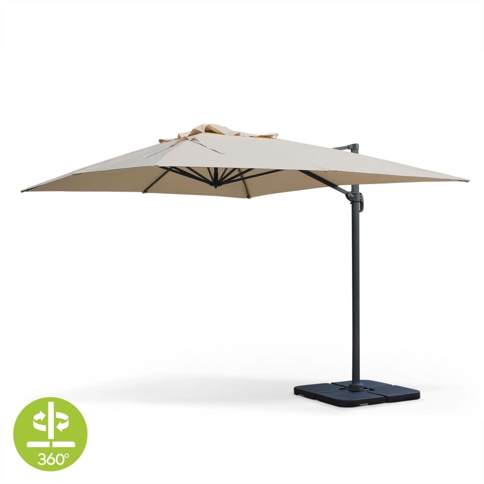 parasol deporte rectangulaire 3x4m. Black Bedroom Furniture Sets. Home Design Ideas