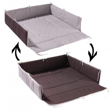 geuther tour de parc blanc marron 102x102. Black Bedroom Furniture Sets. Home Design Ideas