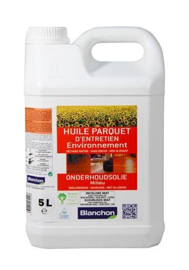 blanchon huile parquet dentretien environnement incolore mat 5 litres. Black Bedroom Furniture Sets. Home Design Ideas