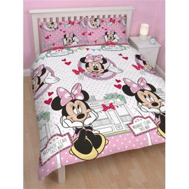 disney parure de lit r versible minnie mouse caf cat gorie adh sif d coratif et sticker. Black Bedroom Furniture Sets. Home Design Ideas