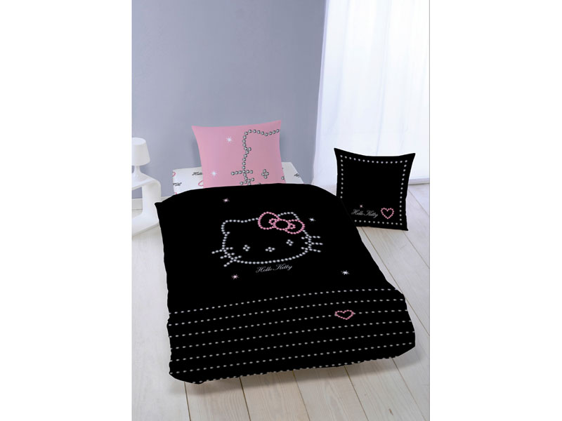 Housse de couette hello kitty 140x200 perfect housse de for Housse couette hello kitty