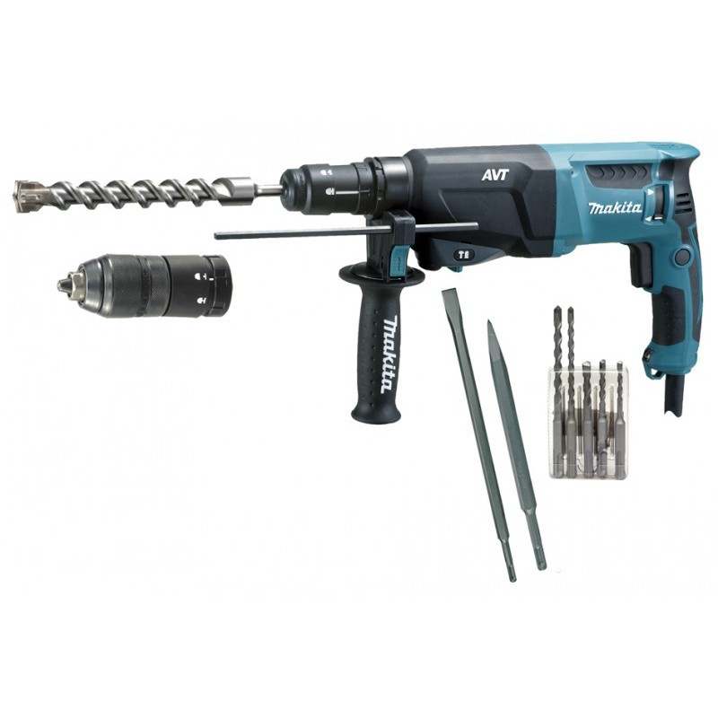 makita c perforateur burineur avt 800w accessoires. Black Bedroom Furniture Sets. Home Design Ideas