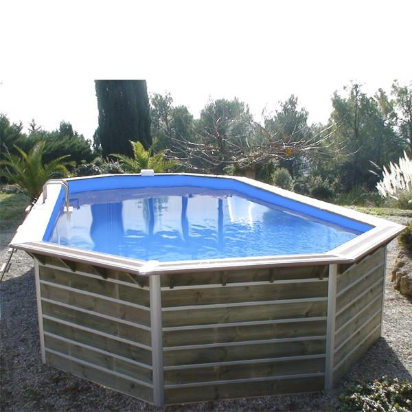 Waterclip piscine bois water clip optimum ovale 89x42x147m for Piscine hors sol hauteur 1m50