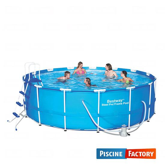 Bestway piscine steel pro frame 488 x 122cm sable for Piscine factory