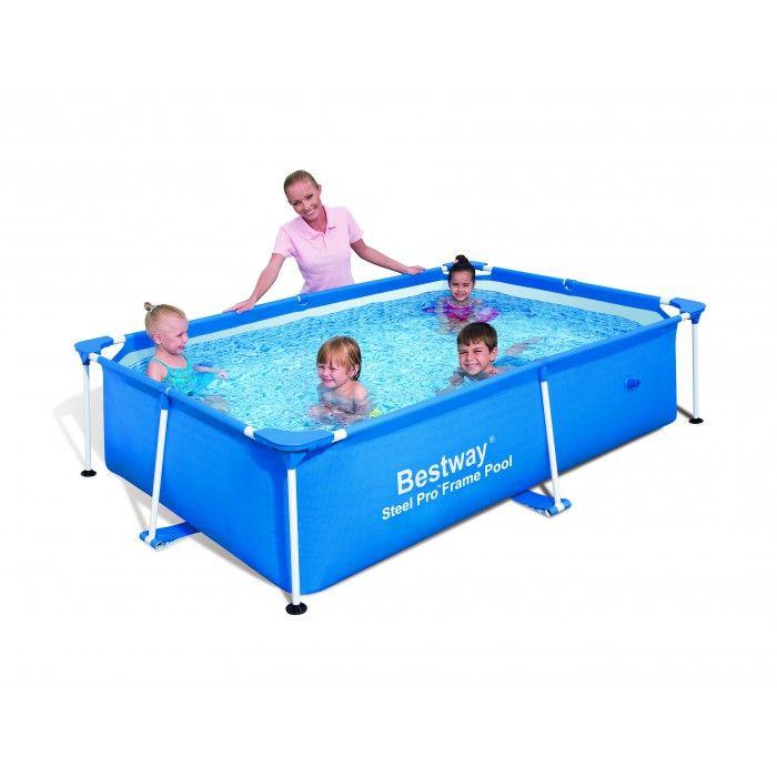 Bestway splash frame pools bleu l239xl150xh58 cm for Accessoire pour piscine bestway