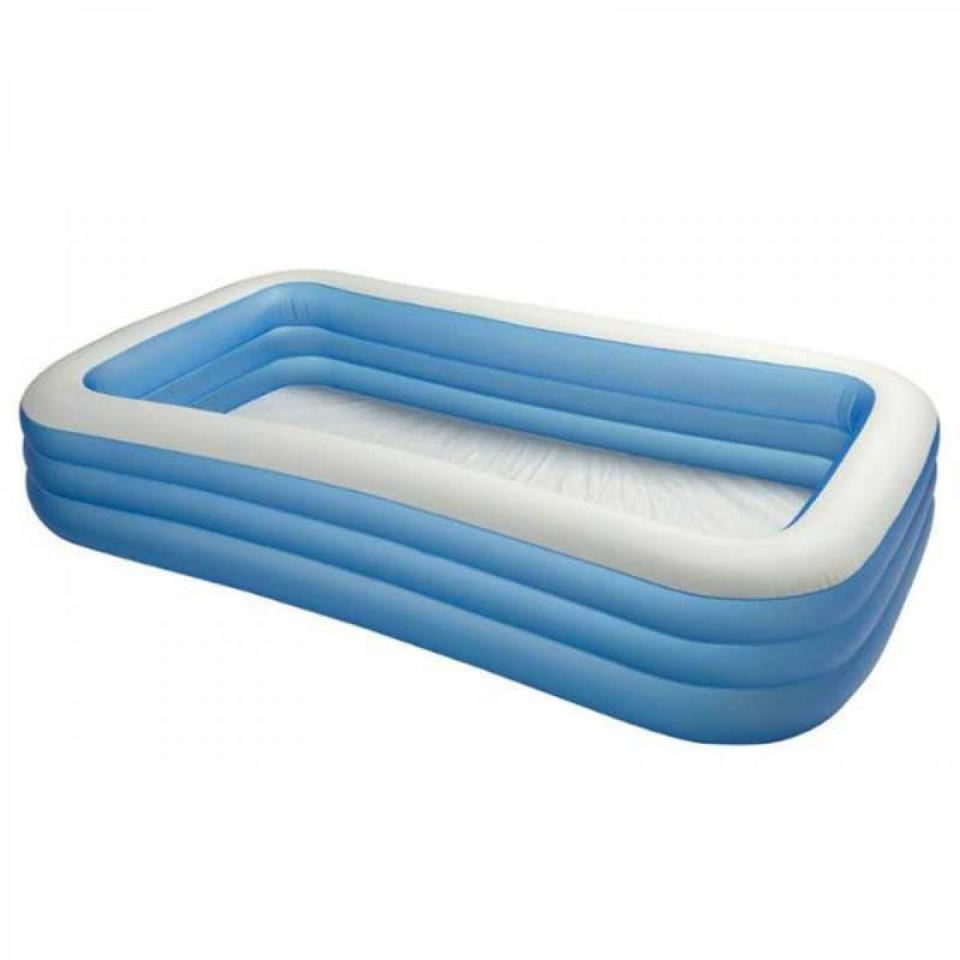Intex cpiscine gonflable familly rectangle cat gorie for Piscine intex gonflable