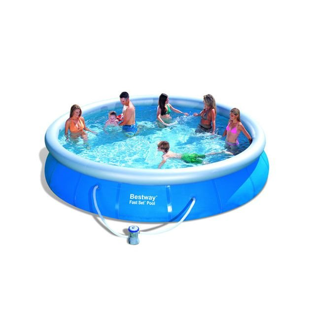 Bestway piscine autoportante ronde fast set 366 x 91 cm catgorie piscine go - Piscine autoportante bestway ...