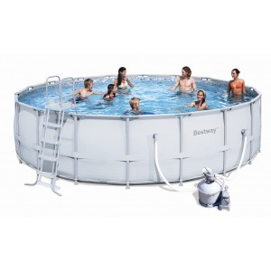 Bestway tubulaire ronde 549x132 for Piscine gonflable ronde