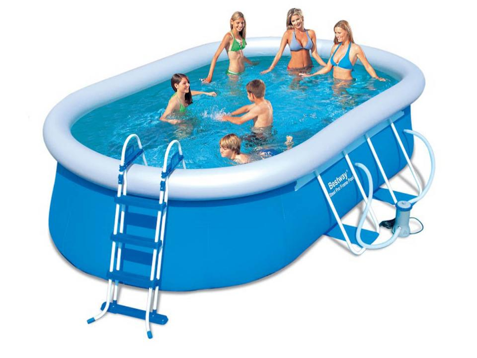 Cat gorie piscine du guide et comparateur d 39 achat - Piscine autoportante ovale ...