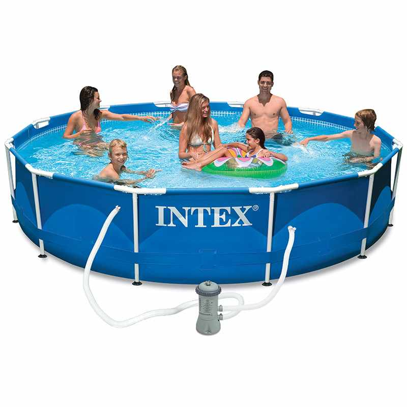 Intex cpiscine tubulaire ronde 3 66 x 0 76 m for Piscine intex 3 66