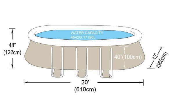 Catgorie piscine et accessoire du guide et comparateur d 39 achat for Piscine autoportante ovale 6 10 x 3 66 x 1 22 m