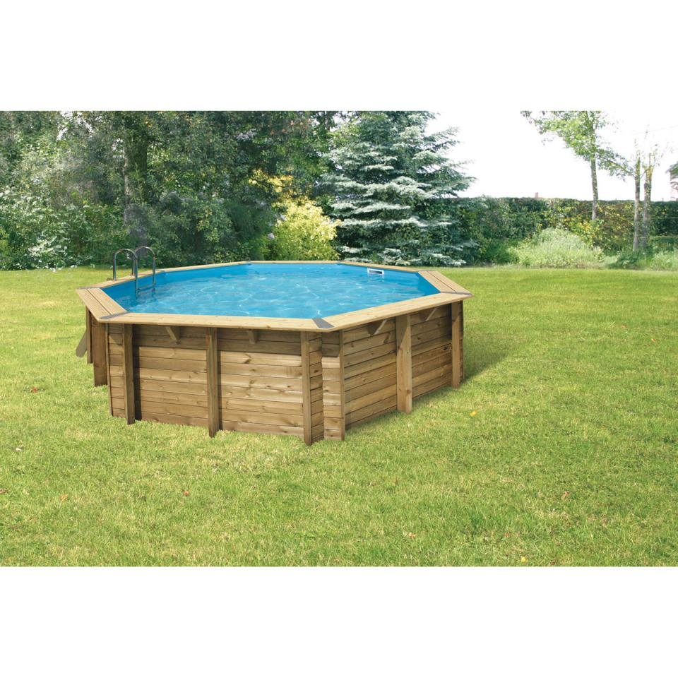 Ubbink cpiscine bois 580 h130cm liner sable cat gorie for Piscine hors sol liner 75 100