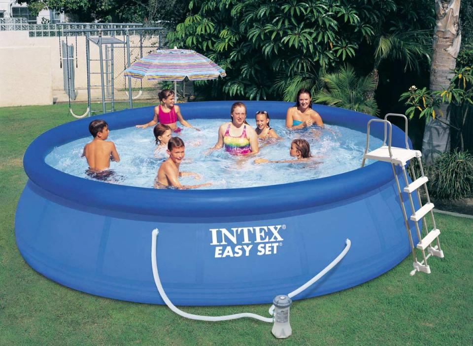 Intex piscine autoport e easy set 4 57 x 1 07 m for Bache piscine intex 4 57
