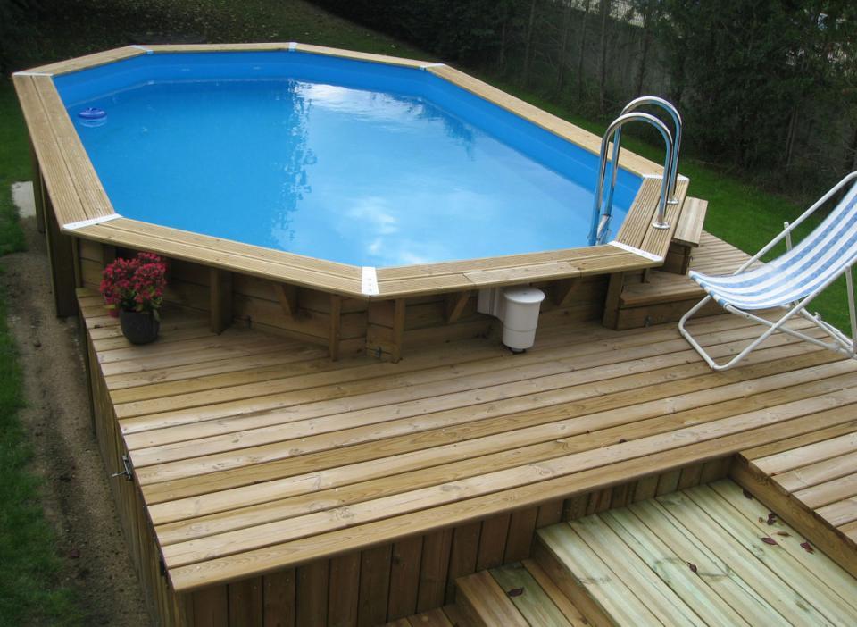 Ubbink cpiscine bois azura x m catgorie barrire for Liner piscine diametre 3 50