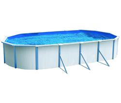 Abak acier saphir ovale l 950 x l 480 x for Abak piscines trigano jardin
