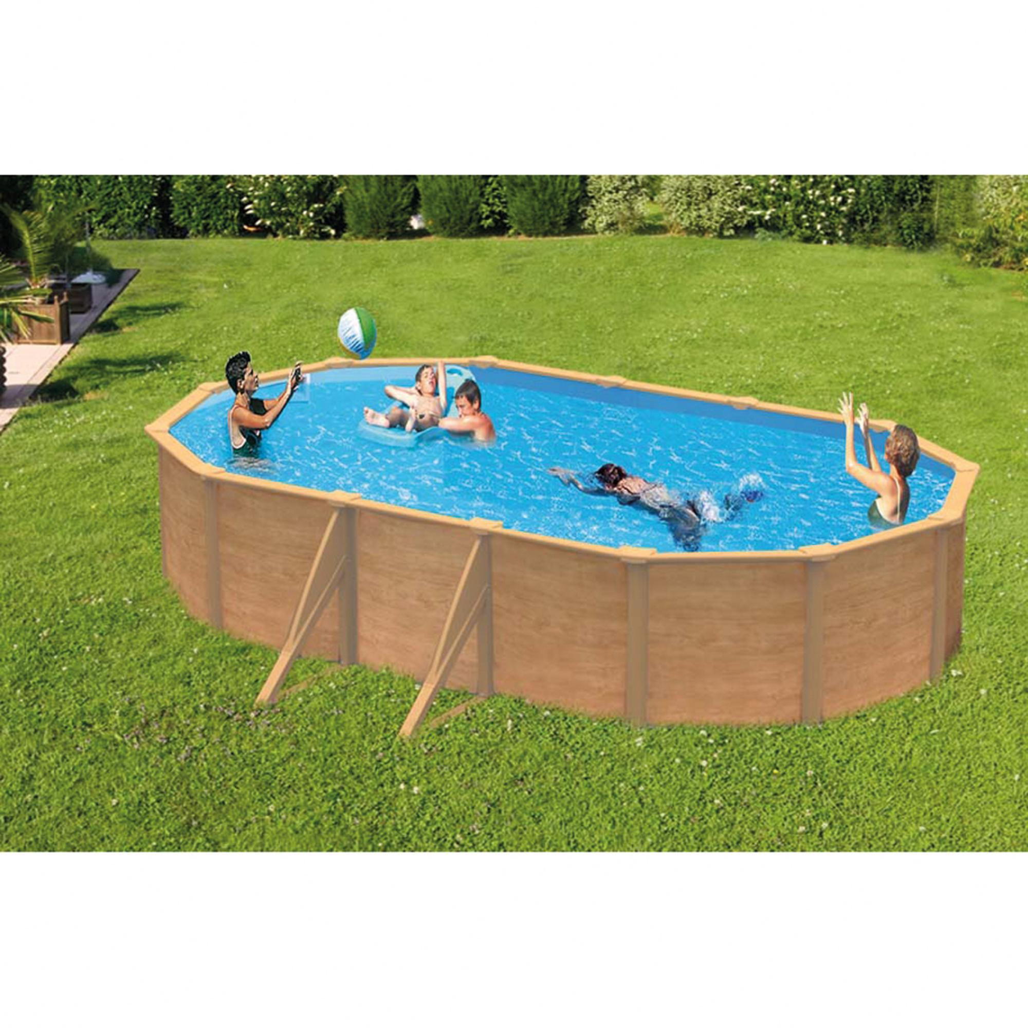 Abak cpiscine acier saphir ovale l 9 50 x l 4 80 x for Abak piscine