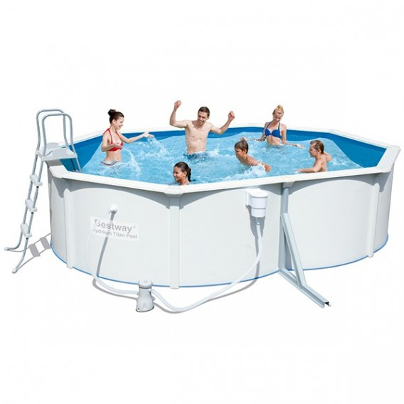 Bestway piscine my first frame pool ronde 153 x 38cm for Piscine acier ovale hydrium 5 00 x 3 60 x 1 20 m