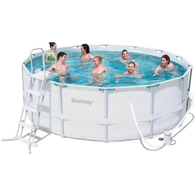Bestway piscine tubulaire rectangulaire x x 1 for Piscine tubulaire ronde bestway 3 66 x 1 22m