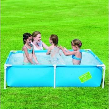 Bestway piscine 1m62 x 1m62 x 35 cm bleu for Piscine enfant rigide