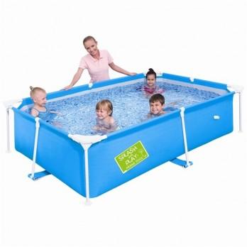 Bestway piscine 2m39 x 1m50 x 58 cm anis for Piscine rectangulaire 1m50