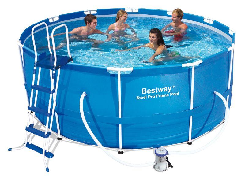 bestway piscine tubulaire ronde 366x122. Black Bedroom Furniture Sets. Home Design Ideas