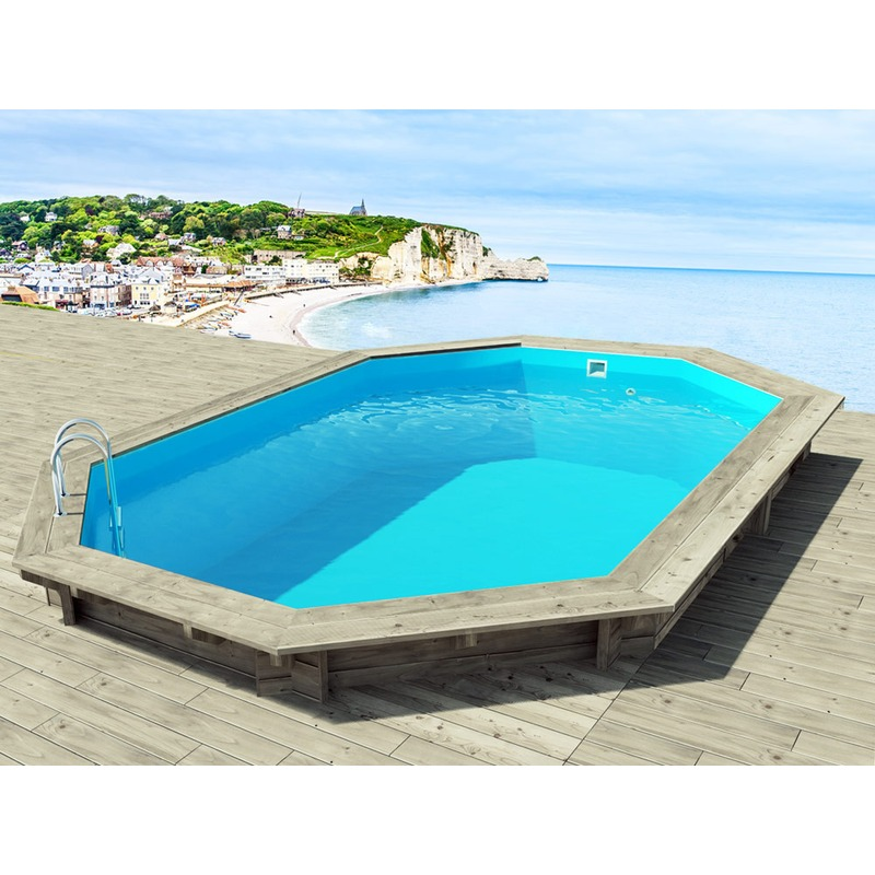 Castorama piscine gonflable for Abri piscine octogonale