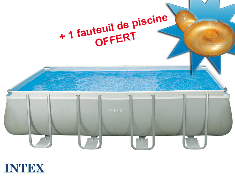 Intex tubulaire rectangulaire 457x274x122m for Piscine intex hors sol rectangulaire