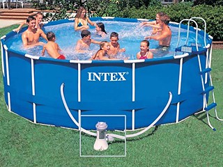 Intex kit piscine tubulaire metal frame x for Kit piscine intex