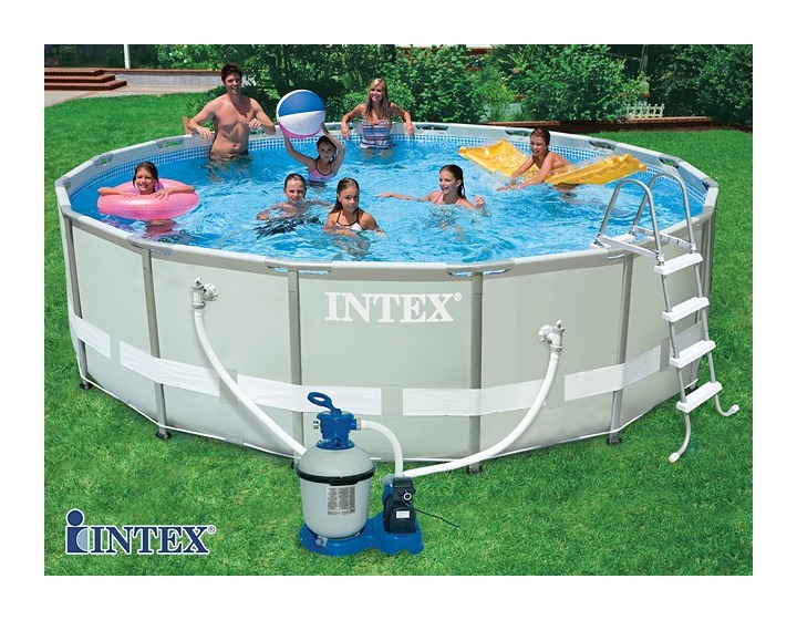 Intex kit piscine tubulaire ultra frame x for Piscine hors sol ultra silver 4 57 x 2 74