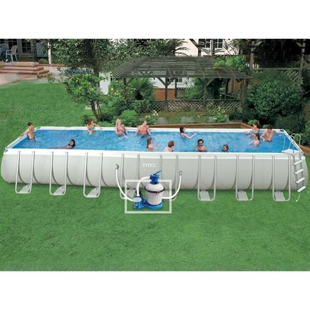 Intex kit piscine ultra silver x x for Piscine hors sol boudin