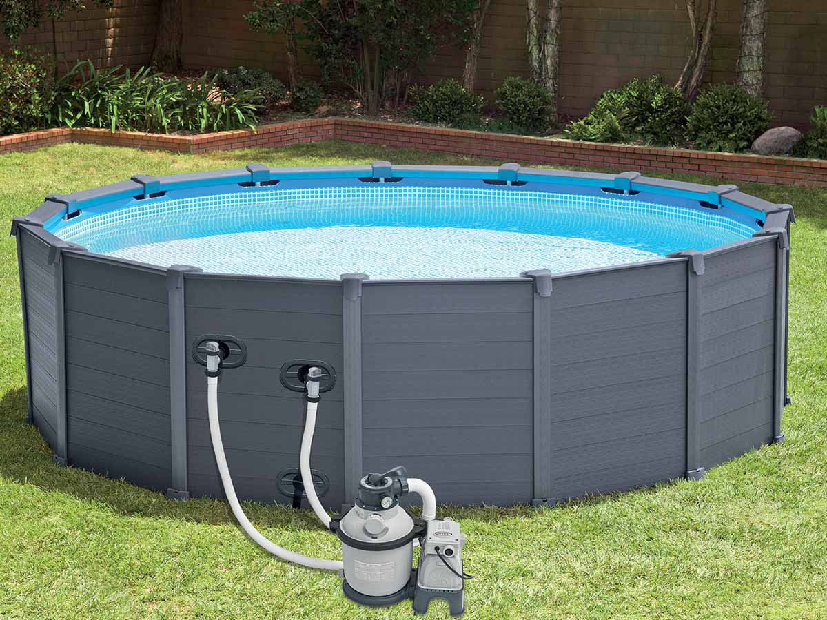 Intex piscine graphite 478 x h124m for Produit piscine