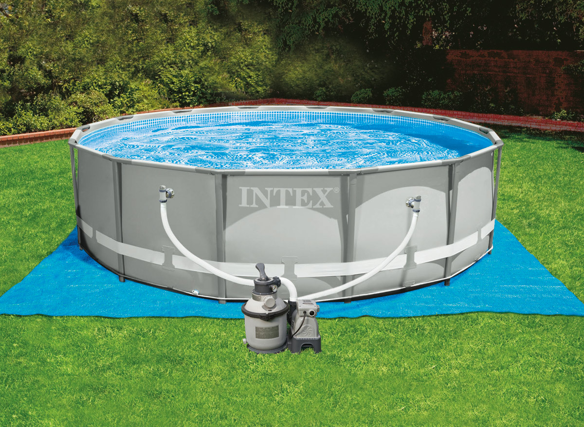 Intex piscine tubulaire 427 x 122 m for Balayeuse pour piscine gonflable