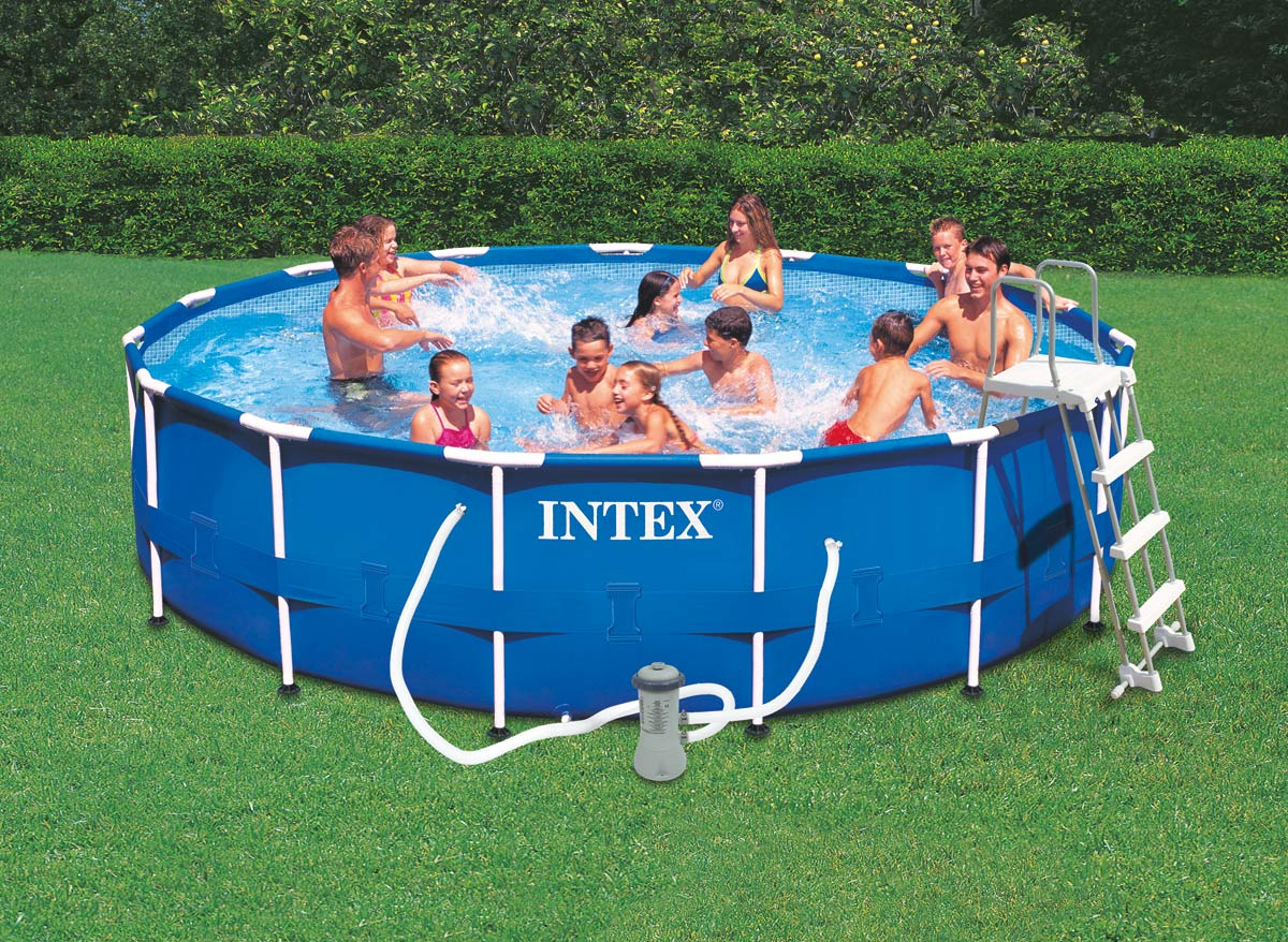 Intex piscine tubulaire 457 x m rchauffeur for Piscine tubulaire