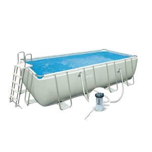 intex piscine tubulaire rectangulaire 400 x 200 cm. Black Bedroom Furniture Sets. Home Design Ideas