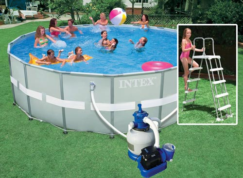 Intex piscine tubulaire ultra frame for Piscine intex ultra frame 5 49x1 32m filtre a sable