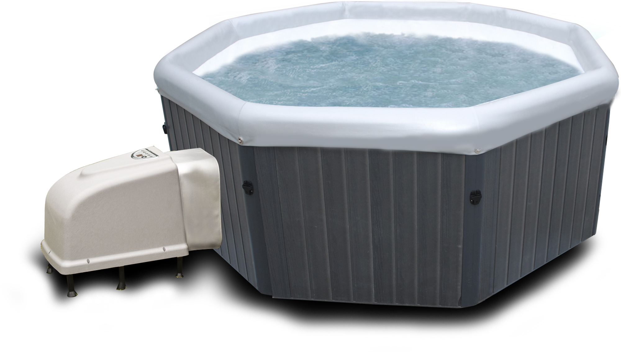 Poolstar spa portable tuscany jet 6 places for Piscine transportable