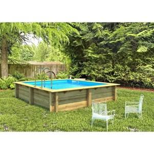 Procopi weva piscine bois carre 3x3 m hauteur 120 m for Piscine carre bois
