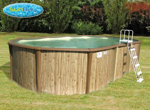 Sunbay mtal ovale freedom 518 x 366 x m for Piscine sunbay
